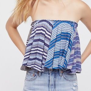 Free people blue tube/swing top